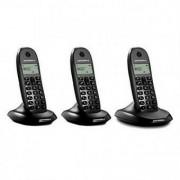 Motorola Trådlös telefon Motorola E07000D48B3AES03 (3 st) Svart