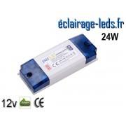 Transformateur LED Pour Intégration 12V DC 24W ref ti12-24