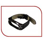 Aксессуар Ремешок Apres Mijobs Leather Strap for Xiaomi Mi Band 2 Black