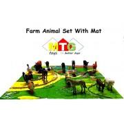 Metro Toys Farm Animal Set with Mat ( 20 Different Farm Animals )