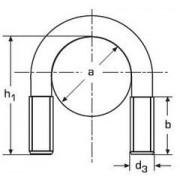 třmen (šroub) tvar U M12/64 BÍLÝ ZINEK DN 65 22400065
