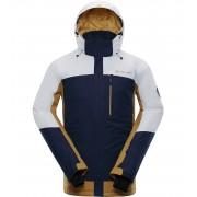 ALPINE PRO SARDAR 3 Pánská lyžařská bunda MJCP369000 bílá XL