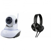 Zemini Wifi CCTV Camera and Extra Bass XB450 Headset for LG OPTIMUS L3 II DUAL(Wifi CCTV Camera with night vision  Extra Bass XB450 Headset )