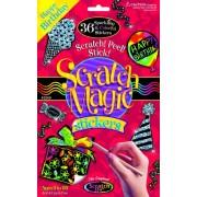Scratch Art Magic Happy Birthday Sticker Kit, Multi Color (36 Pieces)