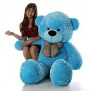 teddy bear 5 ft blue