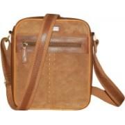 Kan Men & Women Brown Shoulder Bag