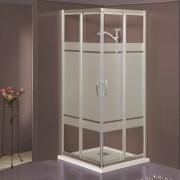 Box doccia scorrevole ad angolo 2703 da 87/91 cm in cristallo 6 mm Brill Satinato
