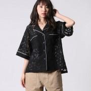 【SALE 40%OFF】アウリィ AULI レースシャツ (ブラック)