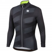 Sportful Moire Jersey - L - Anthracite/Yellow Fluo