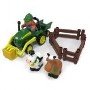 John Deere Set traktor/djur