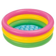 Piscina gonflabila pentru copii cu 3 inele - Multicolor 86x25 cm