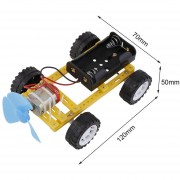 EB Científicos De Viento Eléctrico Pequeño Vehículo Montaje De Juguete Juguetes De Ciencias De La Educación - Multicolor