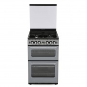 New World 550TSIDOm Silver Gas Cooker with Double Oven