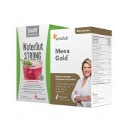 Sensilab Menagold + WaterOut STRONG - gegen Symptome der Menopause und Wasserretention, 60 Kapseln + 10 Getränke