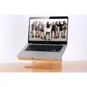 Samdi - Laptop Houder MacBook Pro 15.4 inch Hout Licht Bruin