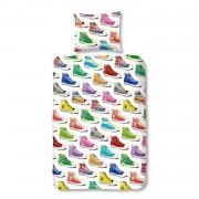 Good Morning Sneakers flanel dekbedovertrek - 1-persoons (140x200/220 cm + 1 sloop)