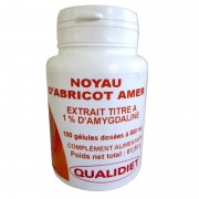 Noyau d'Abricot Amer Qualidiet 100 gélules
