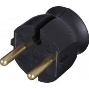 Földelt dugvilla Műanyag Fekete 054366 - Legrand