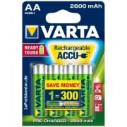 Acumulatori AA (R6), 2600mA Ni-MH, 4 buc/blister, VARTA