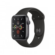 Watch, Apple Series 5 GPS, 44mm Space Grey Aluminium Case with Black Sport Band (MWVF2BS/A)