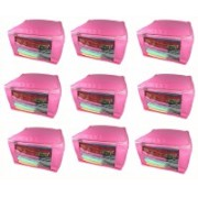 Afrose High Quality Multipurpose Non-Woven Plain 10inch Saree Cover 9PC Capacity 10-15 Units Saree/Blouse Each(Pink)