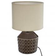 Atmosphera Stolní lampa ILOU, 32 cm, hnědá