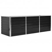 vidaXL Vaso/floreira de jardim aço galvanizado 240x80x77 cm antracite