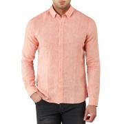 Robbie Moor Linston Linen Shirt Orange XL