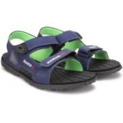 REEBOK Men CLUB BLUE/NEON GREEN/BLK Sports Sandals
