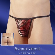 Svenjoyment Animal Powernet Mini G String Underwear Red/Black/White 2110105