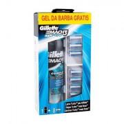 Gillette Mach3 Turbo sada náhradní hlavice 8 ks + gel na holení Extra Comfort 200 ml pro muže