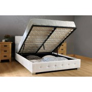 Fabric Weave Ottoman Storage Bed & Optional Mattress - 5 Colours!