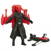 Captain America Super Soldier Gear Air Raid Red Skull Figure(Red)