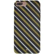 Shop4 - iPhone 7/8 Plus Hoesje - Zachte Back Case Strepen Goud