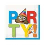Vegaoo Party - 16 pappersservetter från Emoji One-size