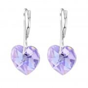 Cercei Martisor Love Argint 925 Cristale Swarovski Violet Aurora Boreala