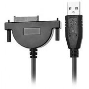 Goliton USB 2.0 to Mini Sata II 7+6 pin 13P Adapter Converter Cable for Laptop CD/DVD Rom Slimline Sata Usb 2.0 Cable