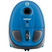 Прахосмукачка с торба Zelmer, телескопична метална тръба, Торбичка за прах с EPA филтрираща ефективност, синя, ZVC115EK