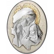 Strieborný obraz materstvo na retro doske D05.5999.273W