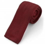 Tailor Toki Rijke mahoniehoutkleurige gebreide stropdas