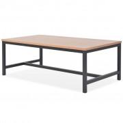 vidaXL Mesa de centro em madeira de freixo 100x55x36 cm
