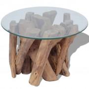 vidaXL Coffee Table Solid Teak 60 cm