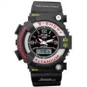 TRUE CHOICE NEW BRAND Rocking Imported MTG Analog-Digital Black Silicone Watch - Men