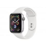 Умные часы APPLE Watch Series 4 40mm Silver Aluminium Case with White Sport Band MU642RU/A