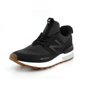 New Balance Men's 574S Sport Sneaker, black/magnet, 14 D US