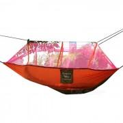 Aotu AT6730 Dual Persona paracaidas tela de nylon de la hamaca - naranja + rojo