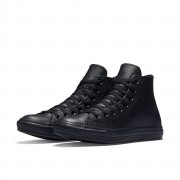 Converse All Star Leather Shoes 135251C Black Size 7.5