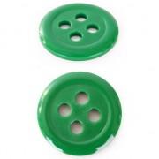 Merkloos Groene hobby knopen 6 cm