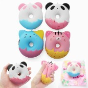YunXin Squishy Cute Animals Donut 10cm Sweet Soft Slow Rising With Packaging Collection Gift Decor