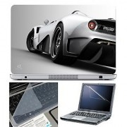 FineArts Laptop Skin 15.6 Inch With Key Guard & Screen Protector - Car Back